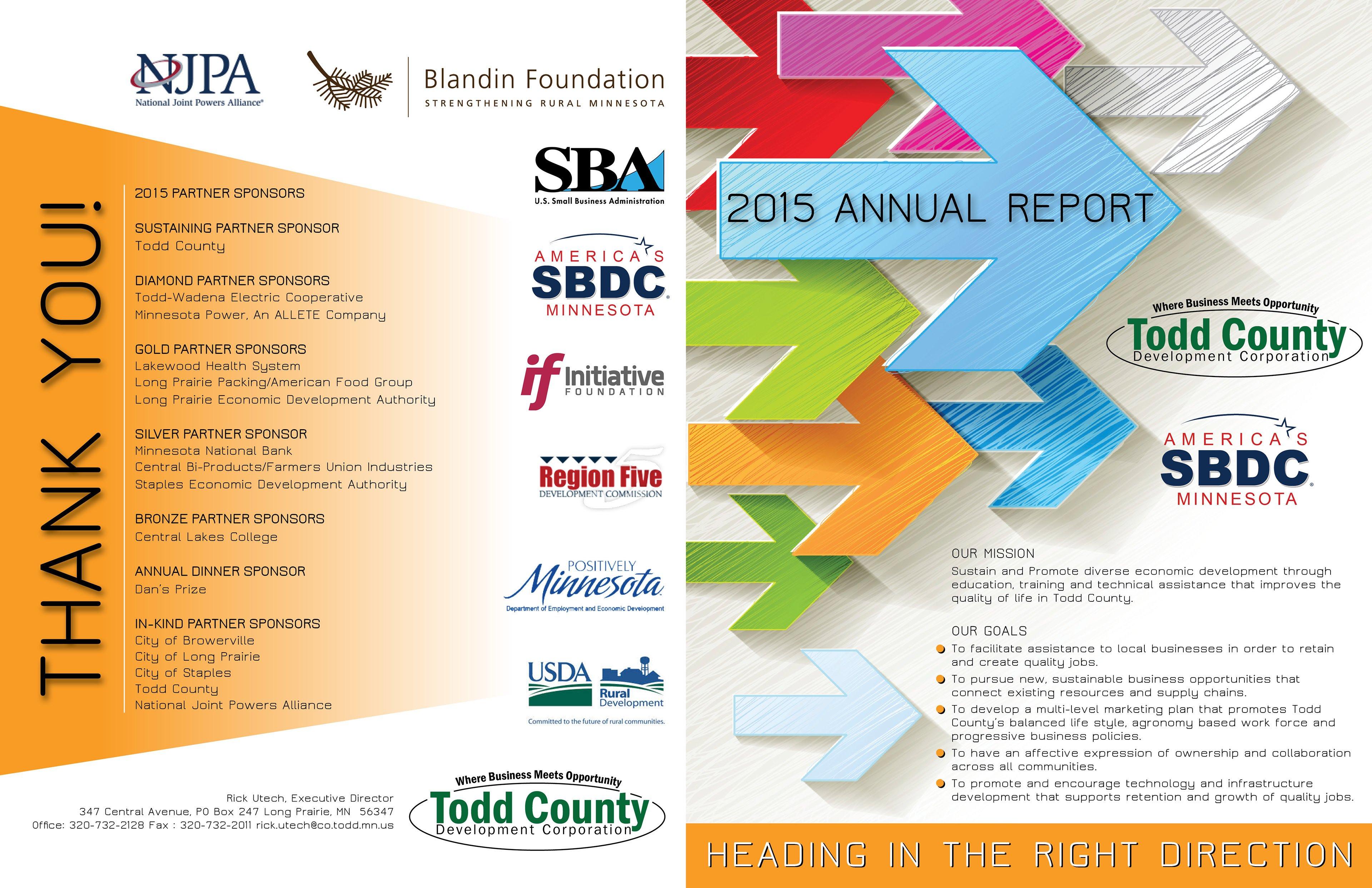 Todd County Development Corporation 2015 Annual Report